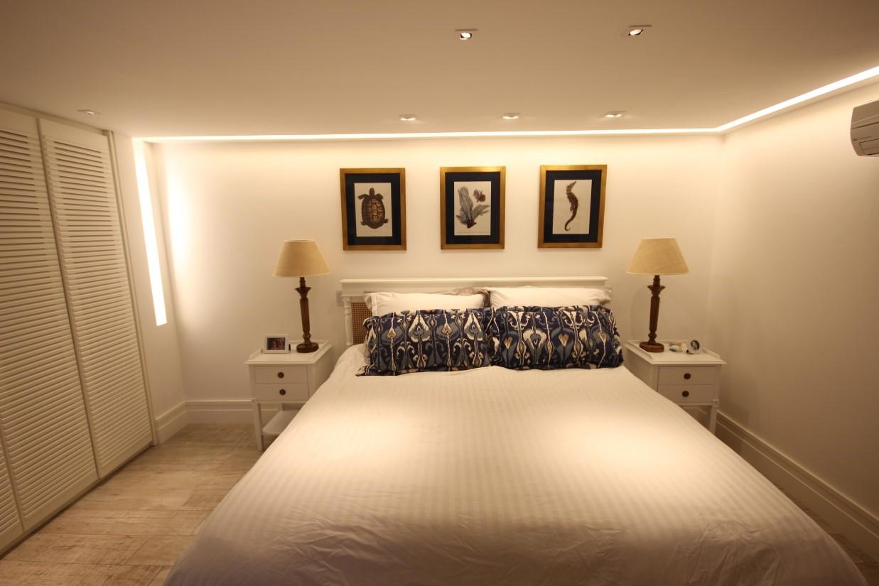 Iluminação para quarto de casal com sanca em Barra do Sahy – SP